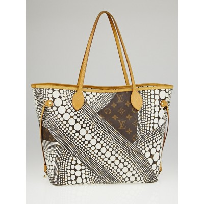 Louis Vuitton Limited Edition White Yayoi Kusama Monogram Waves Neverfull MM Bag