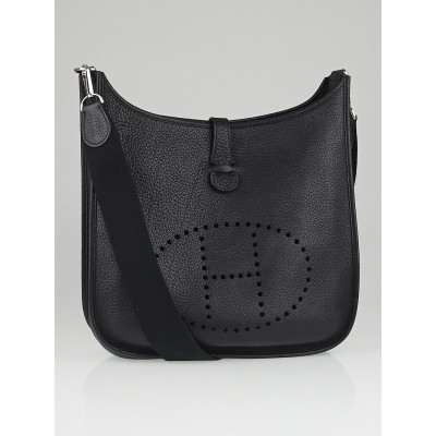 Hermes Black Togo Leather Evelyne I GM Bag
