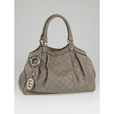 Gucci Grey Guccissima Leather Medium Sukey Tote Bag