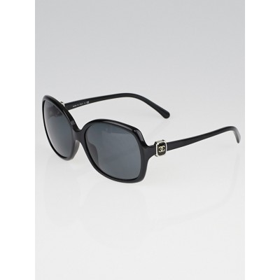 Chanel Black Frame Oversized CC Sunglasses-5174