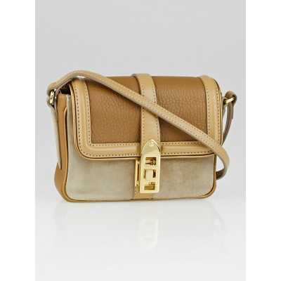 Burberry Beige Suede/Leather Berkeley Mini Crossbody Bag