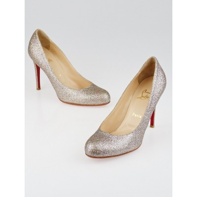 Christian Louboutin Multicolor Glitter Simple 100 Pumps Size 8.5/38