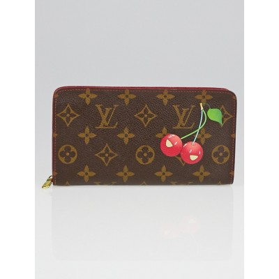Louis Vuitton Limited Edition Monogram Cerises Zippy Long Wallet