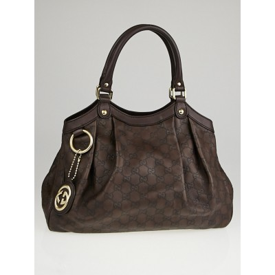 Gucci Ebony Guccissima Leather Medium Sukey Tote Bag