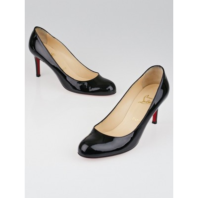 Christian Louboutin Black Patent Leather Simple 70 Pumps Size 7.5/38