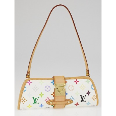 Louis Vuitton White Monogram Multicolore Shirley Bag