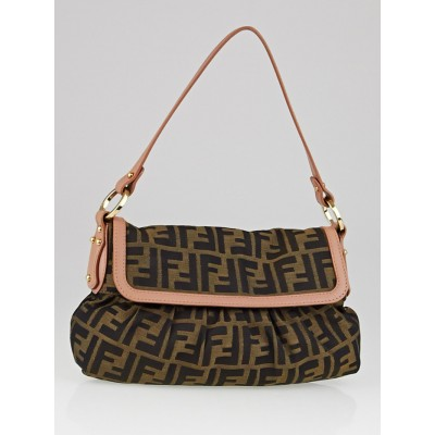 Fendi Tobacco Zucca Print Canvas Small Chef Shoulder Bag