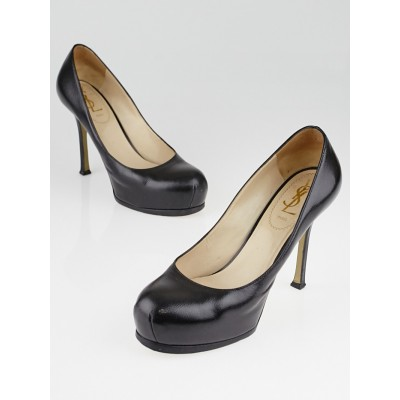 Yves Saint Laurent Black Leather Tribtoo Pumps Size 6/36.5