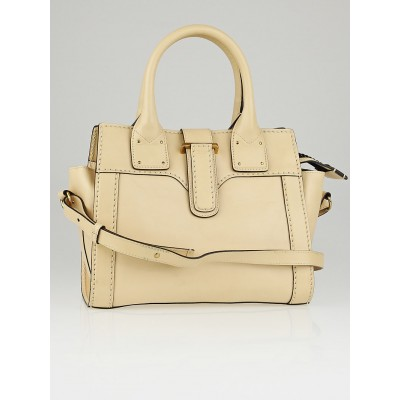 Chloe Nude Leather Oversized Zipper Small Tote Bag