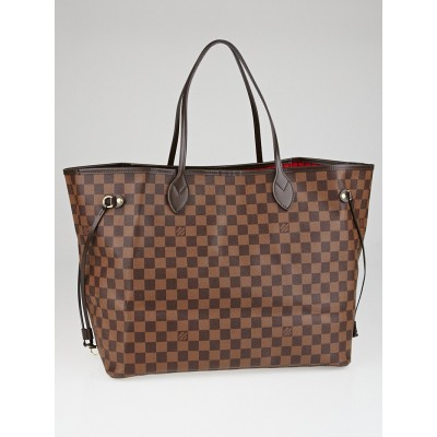 Louis Vuitton Damier Canvas Neverfull NM GM Bag w/o Clutch