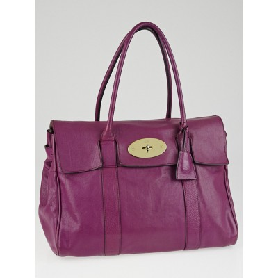 Mulberry Purple Glossy Goat Leather Bayswater Bag