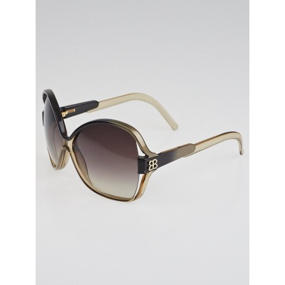 Balenciaga Gold Frame  Gradient Tint Oversized Sunglasses - 0065/S