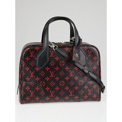 Louis Vuitton Limited Edition Monogram Infrarouge Canvas Dora Soft MM Bag