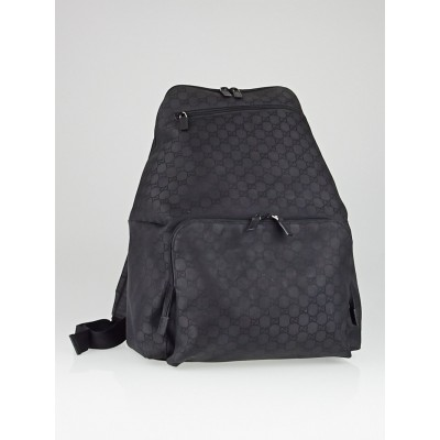 Gucci Black GG Nylon Large Backpack Bag