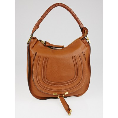 Chloe Tan Leather Medium Marcie Hobo Bag