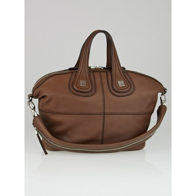 Givenchy Brown Sugar Goatskin Leather Small Nightingale Bag