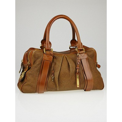 Burberry Prorsum Brown Leather Studded Knight Bag