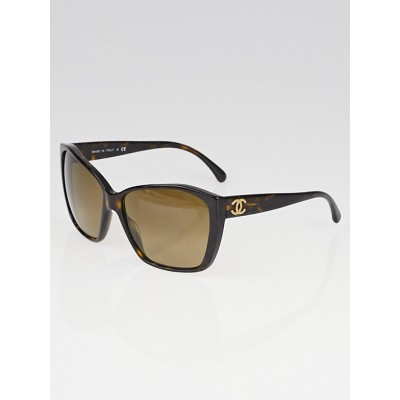 Chanel Tortoise Shell CC Logo Sunglasses-5203