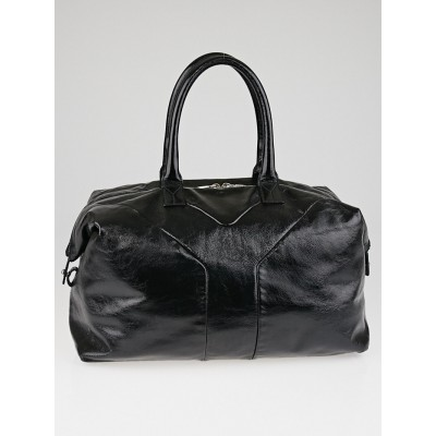 Yves Saint Laurent Black Patent Leather Easy Y Zip Tote Bag