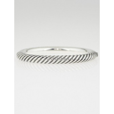 David Yurman 7mm Sterling Silver Cable Collection Bangle Bracelet