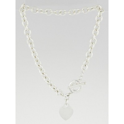 Tiffany & Co. Sterling Silver Return to Tiffany Charm Necklace