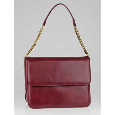 Stella McCartney Bordeaux Shiny Faux Leather Grace Shoulder Bag