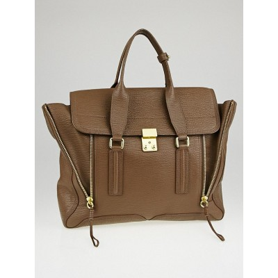 3.1 Phillip Lim Taupe Leather Large Pashli Satchel Bag