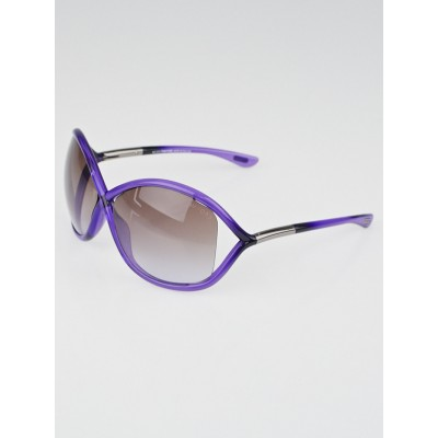 Tom Ford Purple Frame Gradient Tint Whitney Sunglasses -TF9