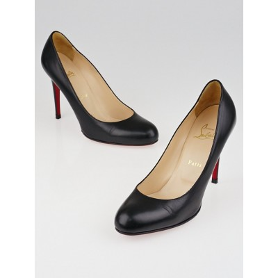 Christian Louboutin Black Leather Simple 100 Pumps Size 8.5/39