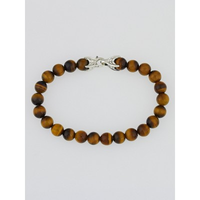 David Yurman 8mm Tiger's Eye Spiritual Bead Bracelet