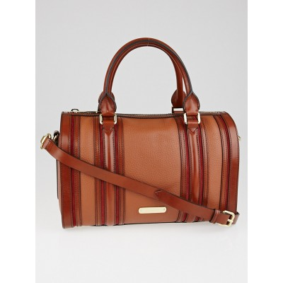 Burberry Autumn Leather Medium Alchester Bowling Bag