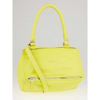 Givenchy Yellow Sugar Goatskin Leather Small Pandora Bag