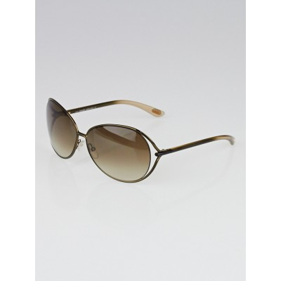 Tom Ford Brown Frame Gradient Tint Clemence Sunglasses -TF158