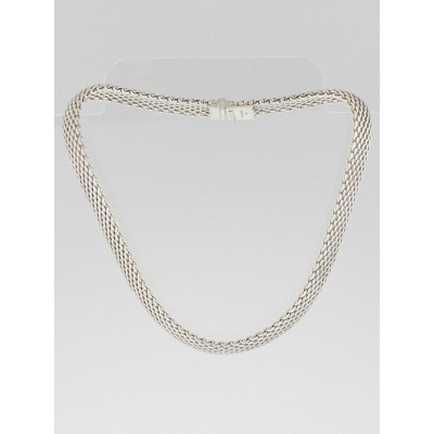 Tiffany & Co. Sterling Silver Somerset Mesh Necklace