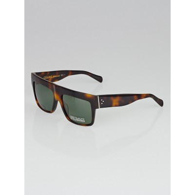 Celine Tortoise Shell Acetate ZZ Top Sunglasses-CL 41756