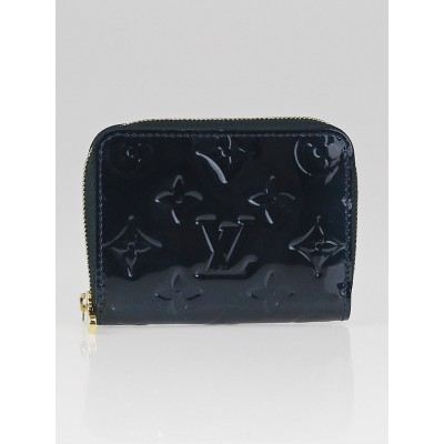 Louis Vuitton Blue Nuit Monogram Vernis Zippy Coin Purse