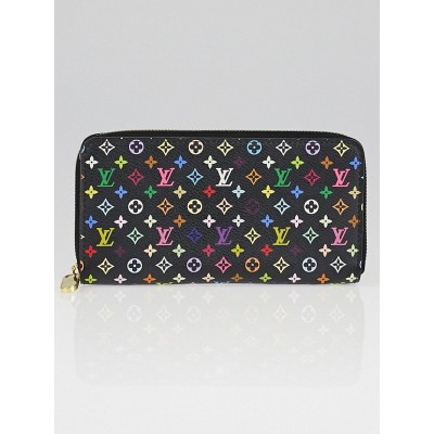 Louis Vuitton Black Monogram Multicolore Zippy Wallet