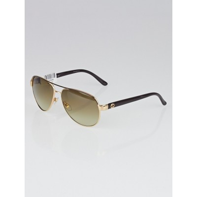 Gucci Goldtone Frame Metal Aviator Sunglasses - GG 4239