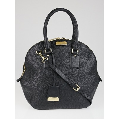 Burberry Black Grain Leather Large Orchard Bag