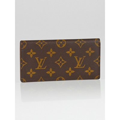 Louis Vuitton Monogram Canvas Simple Checkbook Holder