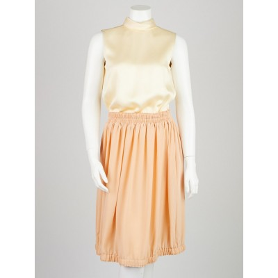 Chloe Beige/Pink Silk Sleeveless Dress Size 2/34