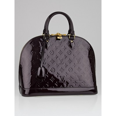 Louis Vuitton Amarante Monogram Vernis Alma MM Bag