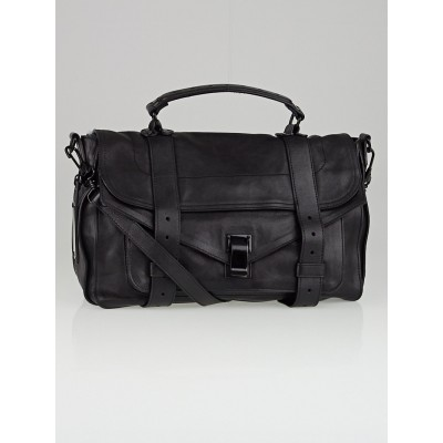 Proenza Schouler Black Poncho Leather Medium PS1 Bag