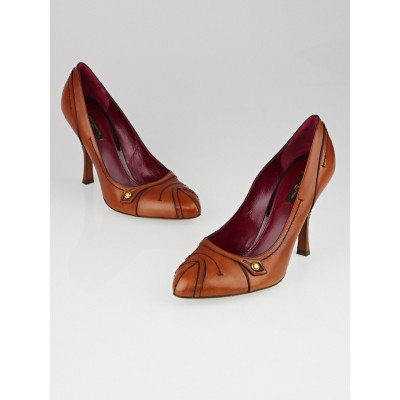 Louis Vuitton Brown Leather Pumps Size 9/39.5