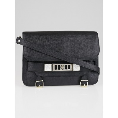 Proenza Schouler Black Calfskin Leather PS11 Classic Bag