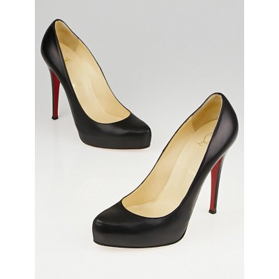 Christian Louboutin Black Leather Rolando 120 Pumps Size 9/39.5