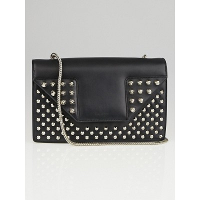 Saint Laurent Black Calfskin Studded Leather Mini Betty Clous Flap Bag