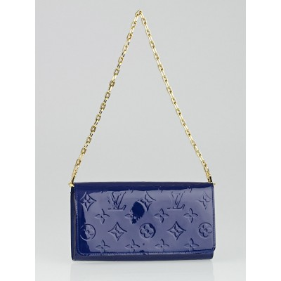 Louis Vuitton Grand Bleu Monogram Vernis Chaine Wallet