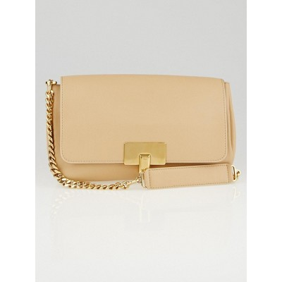 Chloe Biscotti Beige Leather Lucy Flap Bag