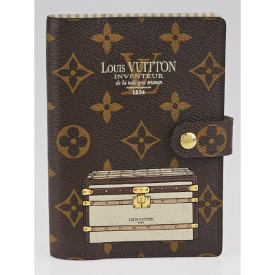 Louis Vuitton Limited Edition Monogram Canvas Inventuer Trunks & Locks Small Ring Agenda Cover